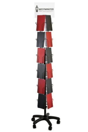 "Card Display Stand, Floor Spinner (5""x7""- 24 Pockets)"