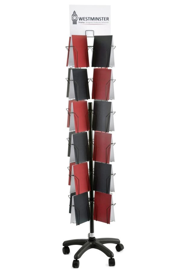 "Card Display Stand, Floor Spinner (6""x8"" - 48 Pockets)"