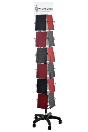 """Card Display Stand, Floor Spinner (6""""x8"""" - 24 Pockets)"""