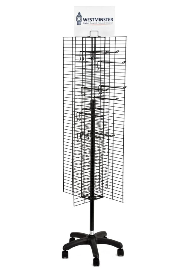 Calendar Wire Display Stand, Mesh Spinner