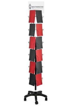 "Card Display Stand, Floor Spinner (6""x6"" - 24 Pockets)"