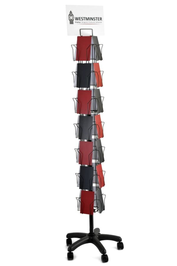 Card Display Stand, Floor Stand (C6 - 28 Pockets)