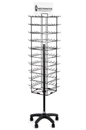 Keyring Shop Display Stand, Floor Spinner (200 Loop)