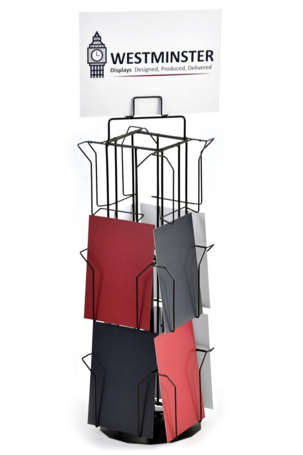 """Card Display Stand, Counter Spinner (6""""x8"""" - 12 Pockets)"""