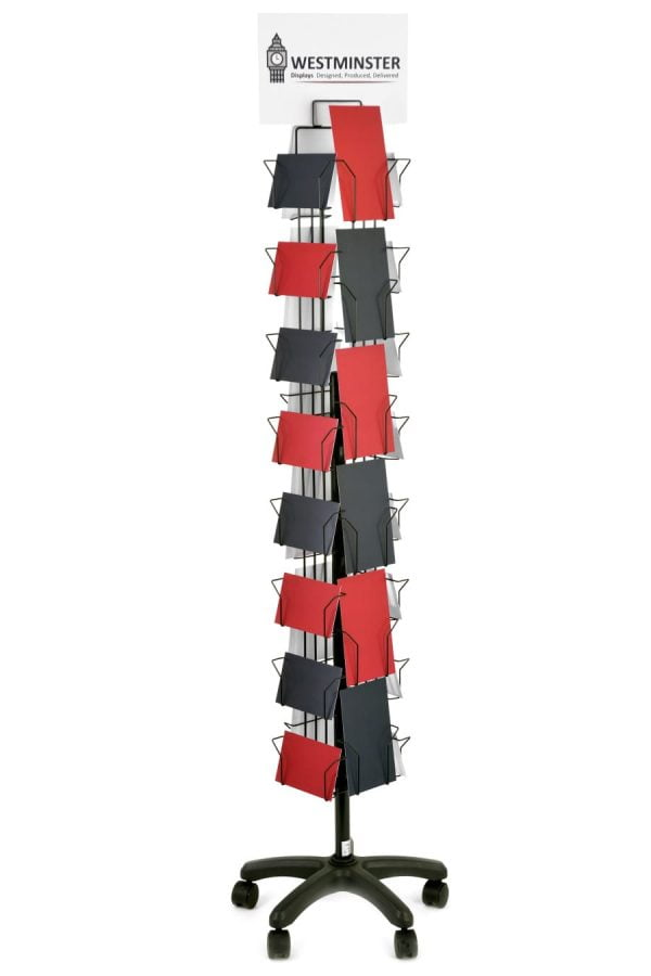 """Card Display Stand, Floor Spinner (5""""x7"""" - 28 Pockets)"""