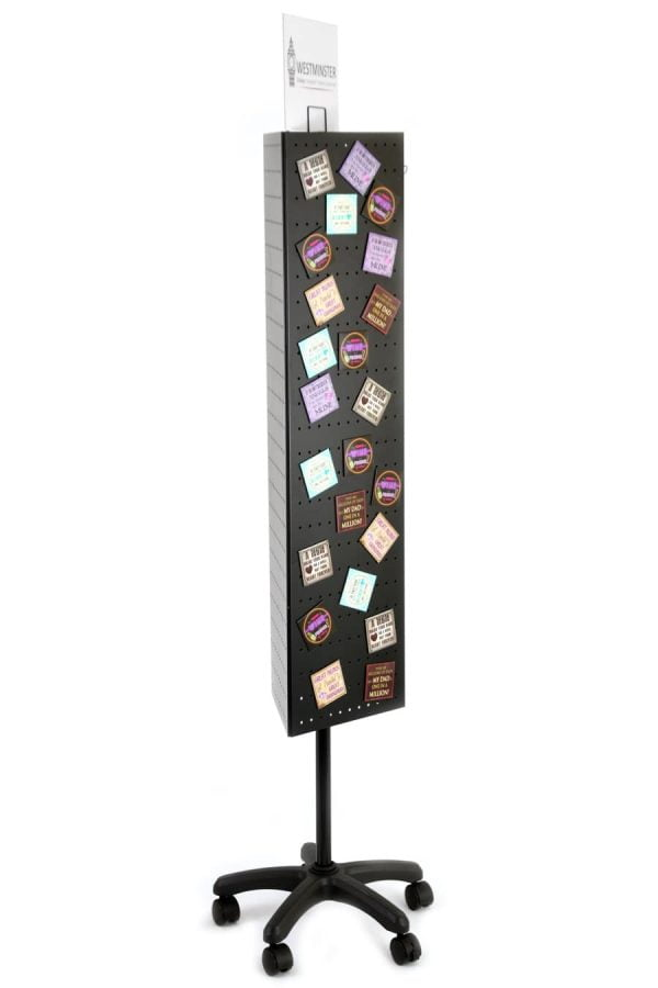 Perforated Shop Display Stand, Floor Spinner