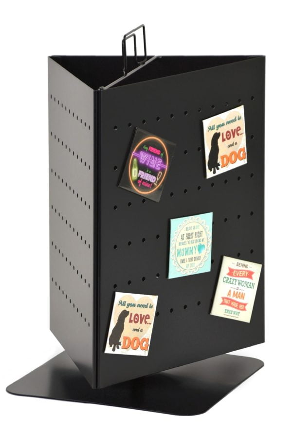 Perforated Metal Counter Spinner Display Stand