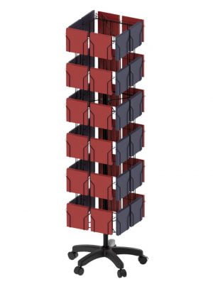 48 Pocket 4 Sided 6x6 Floor Display Stand
