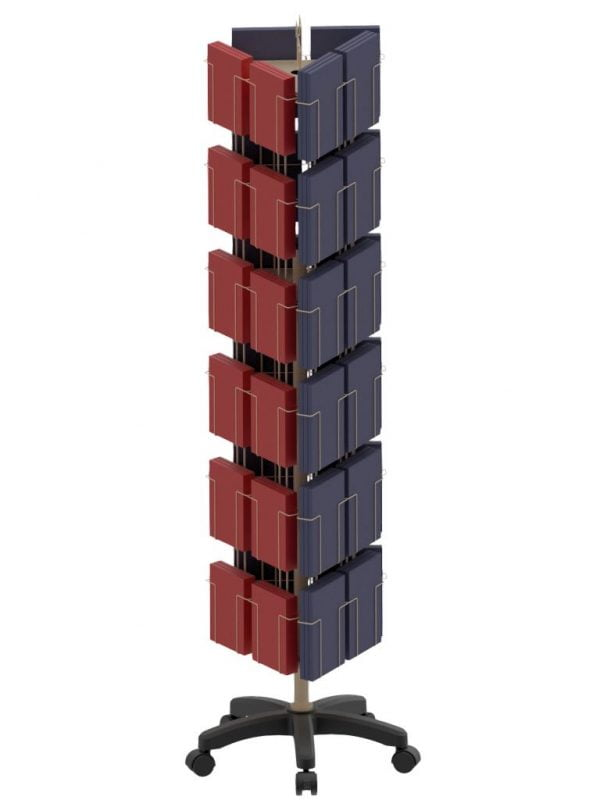 36 Pocket 3 Sided Floor Spinner Display Stand