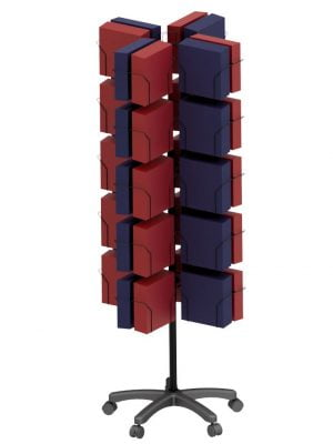 48 Pocket 8 Sided 9x9 Floor Spinner Display Stand