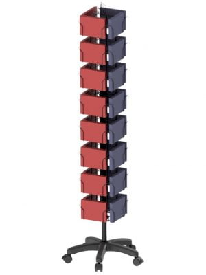 32 Pocket 4 Sided Floor Spinner Display Stand