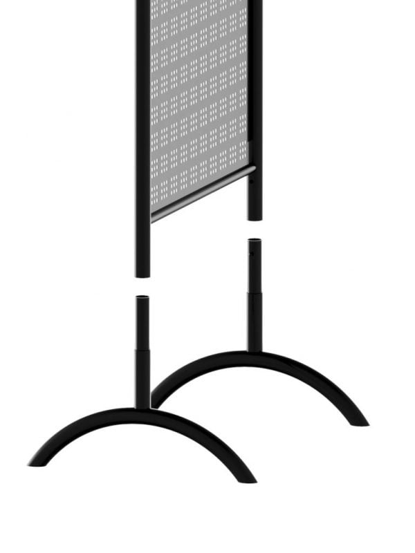 Perforated Double Sided Retail Display Stand Legs