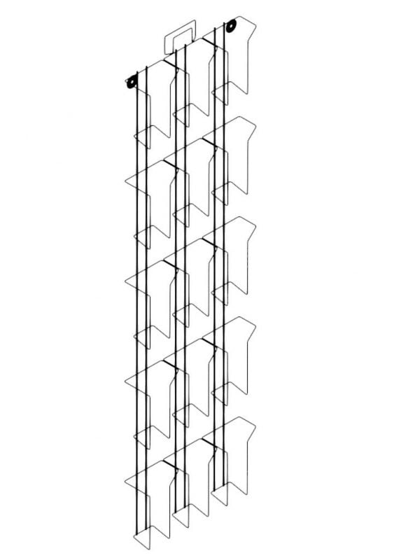 15 Pocket Wall Rack 3rd A4 Display