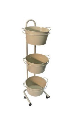 Metal tub display stands