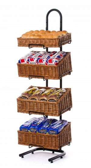 Wicker display stands