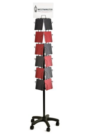 24 pocket 4 sided 6x6 card floor stand