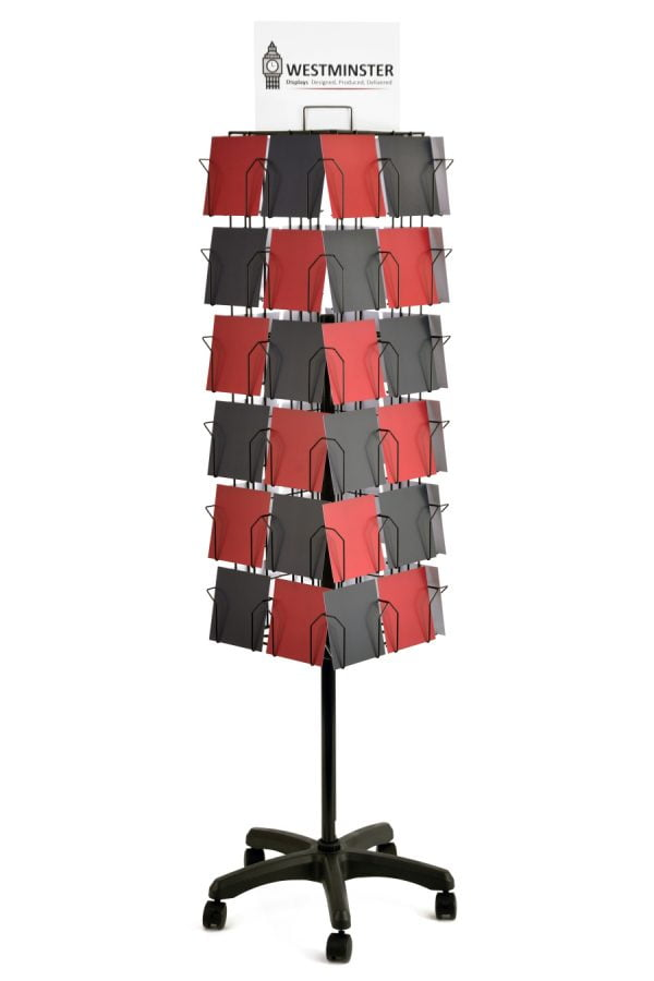 48 pocket 4 sided 6x6 card floor stand