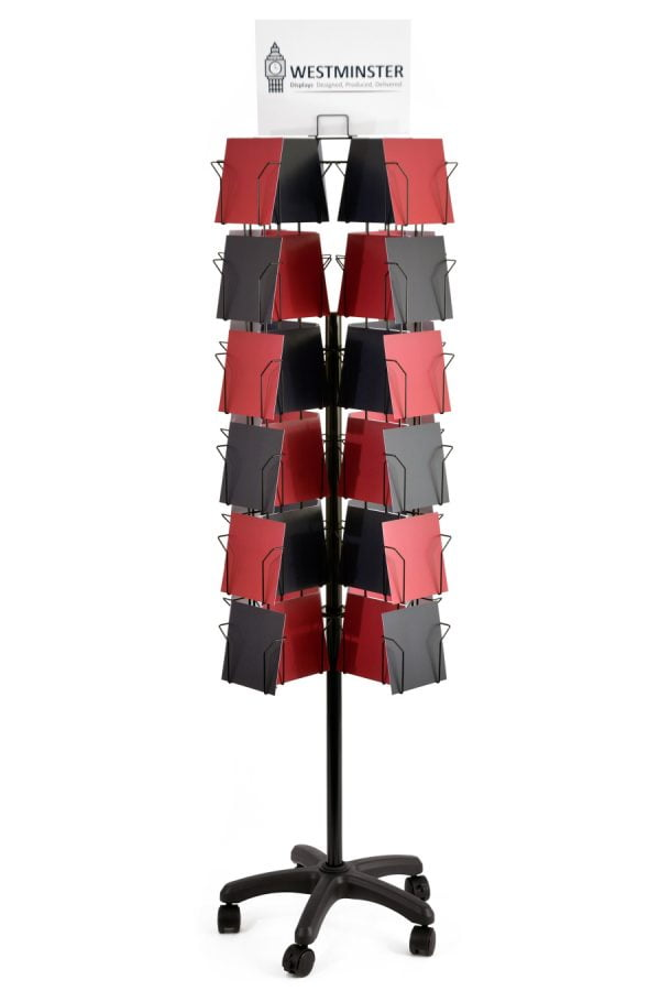 72 pocket 12 sided 6x6 card floor stand