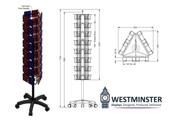 Wire spinner display stands