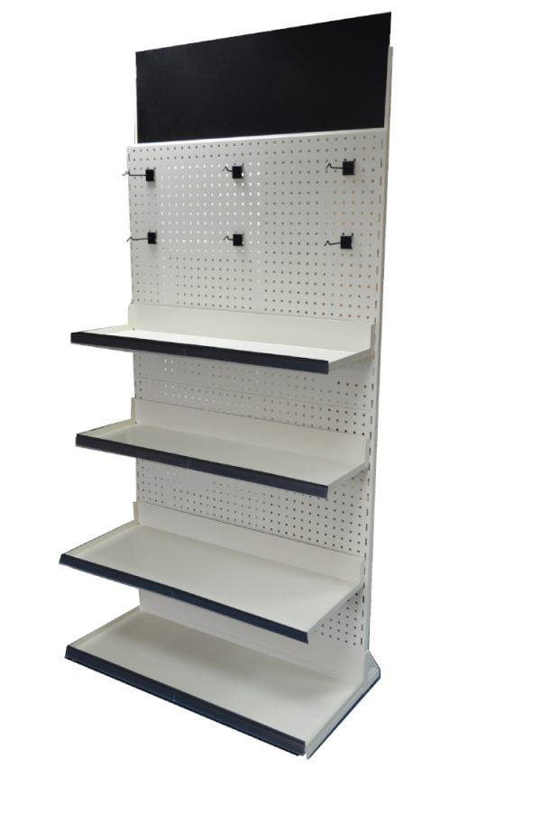 Wall bay display stands