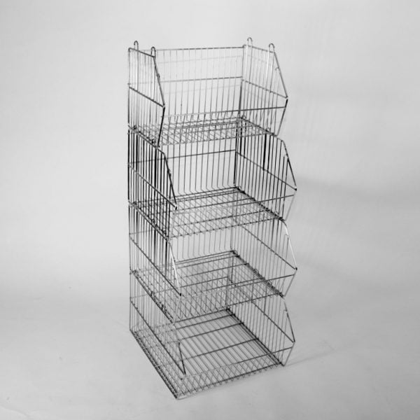 Stackable display baskets