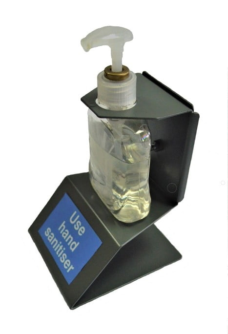 reception desk sanitiser holder