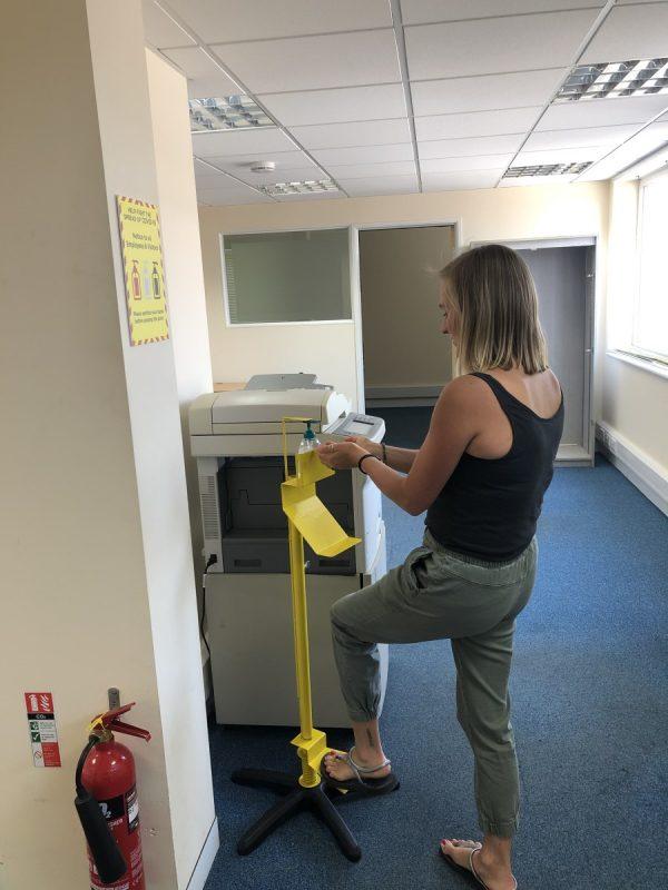 westap office sanitiser stand