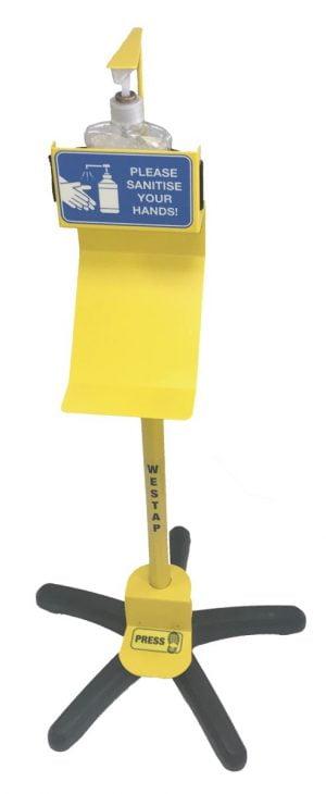 westap, westap sanitiser, westap foot control, foot pedal dispenser